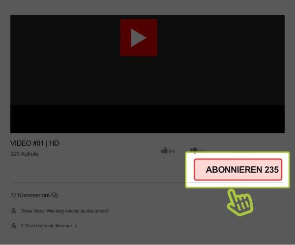 Hier YouTube Klicks kaufen (Zähler)