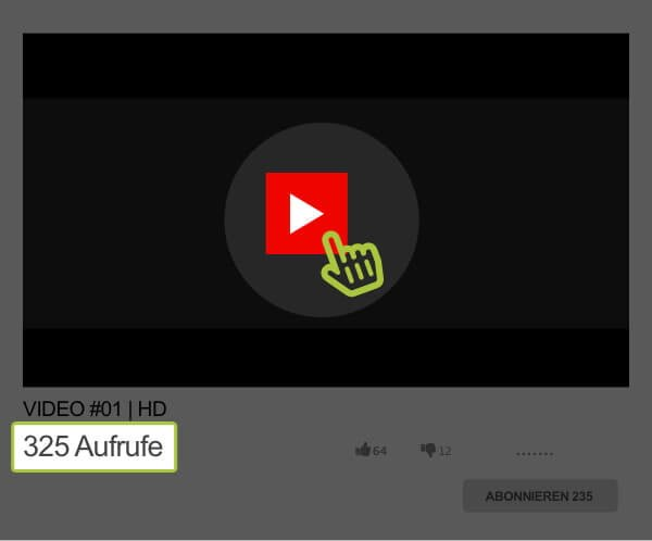 YouTube Klicks bei GetViews